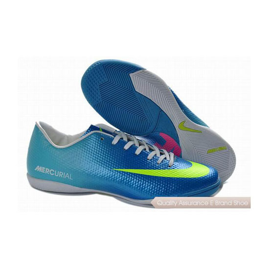 Nike Mercurial Victory IV IC Indoor Shoes Blue Volt Green Pink
