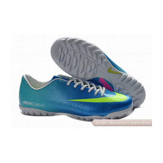 Nike Mercurial Victory IV TF Cleats Blue Volt Green Blue