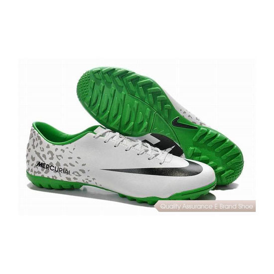 Nike Mercurial Victory IV Turf Soccer Shoes 2014 White Black Green