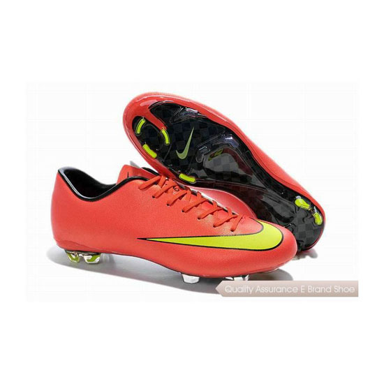 Nike Mercurial Victory X FG 2014 World Cup Soccer Cleats Red Yellow