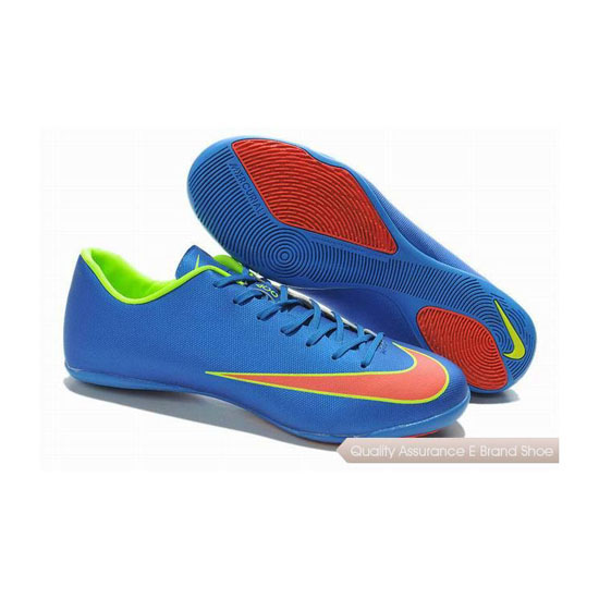 Nike Mercurial Victory X IC Indoor Soccer Shoes 2014 Blue Orange