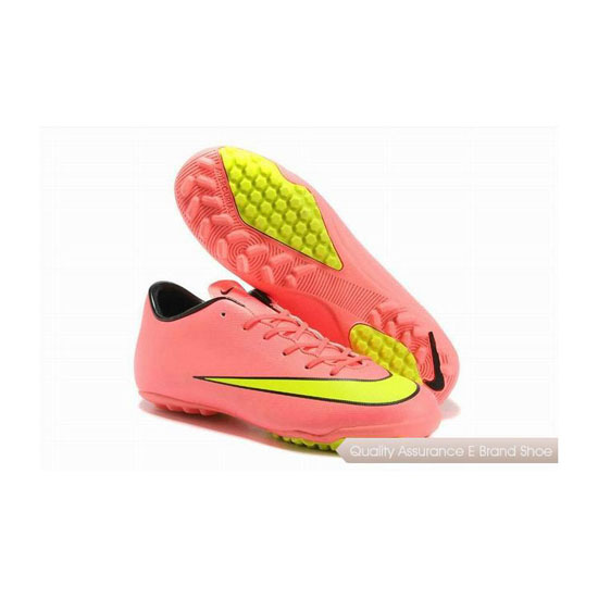 Nike Mercurial Victory X TF 2014 World Cup Soccer Cleats Pink Fluerescent Green Black