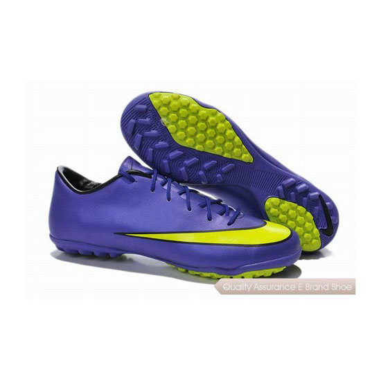 Nike Mercurial Victory X TF 2014 World Cup Soccer Cleats Purple Yellow Green