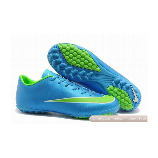 Nike Mercurial Victory X TF Soccer Cleats 2014 SkyBlue Green