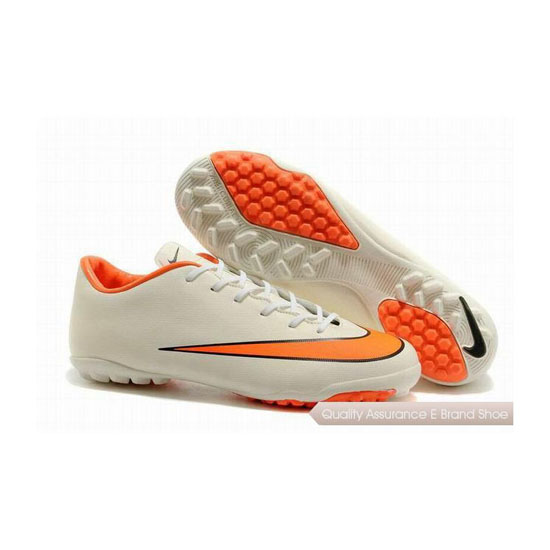 Nike Mercurial Victory X TF Soccer Cleats 2014 White Orange