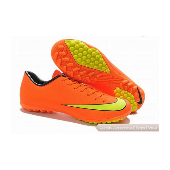 Nike Mercurial Victory X Turf Soccer Cleats 2014 Orange Yellow