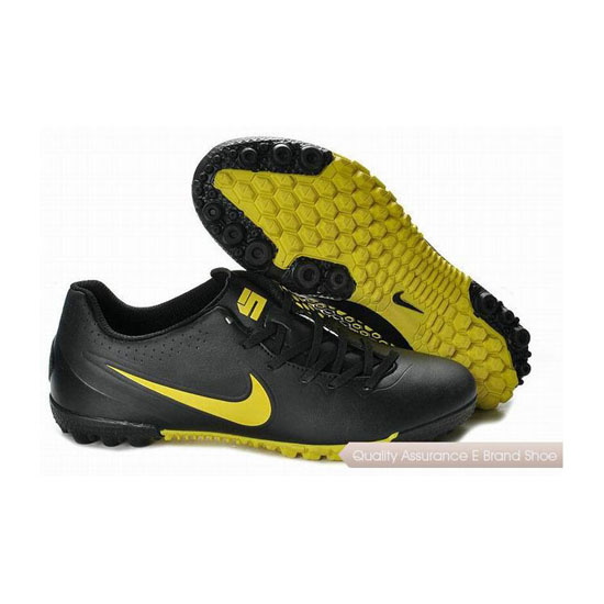 Nike5 Bomba Finale Indoor Soccer Shoes Black Chrome Yellow