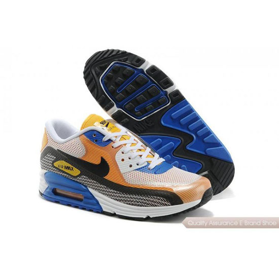 Nike Air Max 90 Lunar Mens Light Grey Orange Shoes