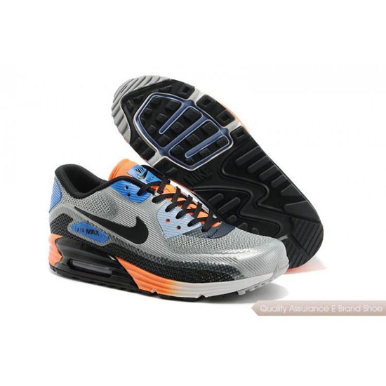 Nike Air Max 90 Lunar Mens Dark Grey Orange Shoes
