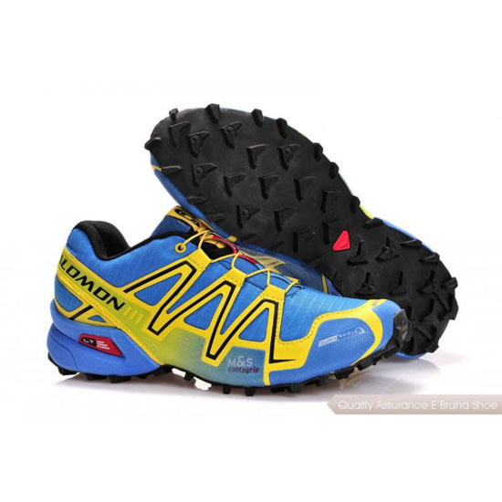Salomon Mountain Trail-Running Speedcross 3 Mens  yellow blue