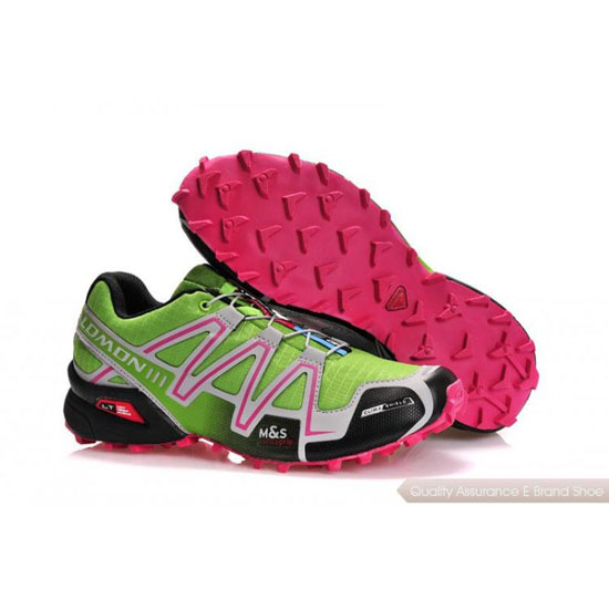 Salomon Mountain Trail-Running Speedcross 3 Mens green pink