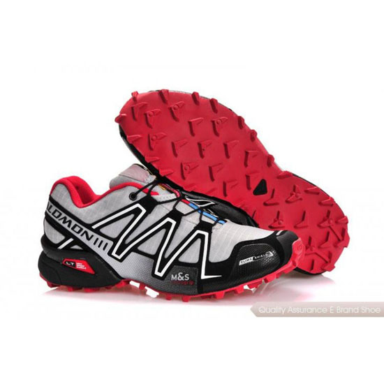 Salomon Mountain Trail-Running Speedcross 3 Mens white black pink