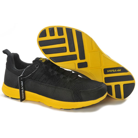 Supra Owen Footwear Tour Black Neon Yellow
