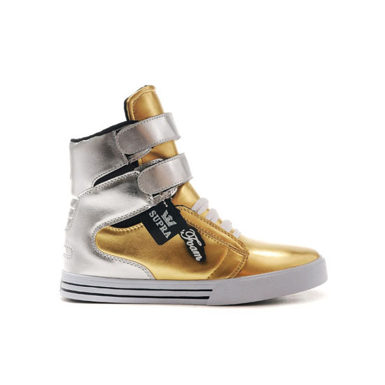 Supra Tk Society Footwear Gold Silver White
