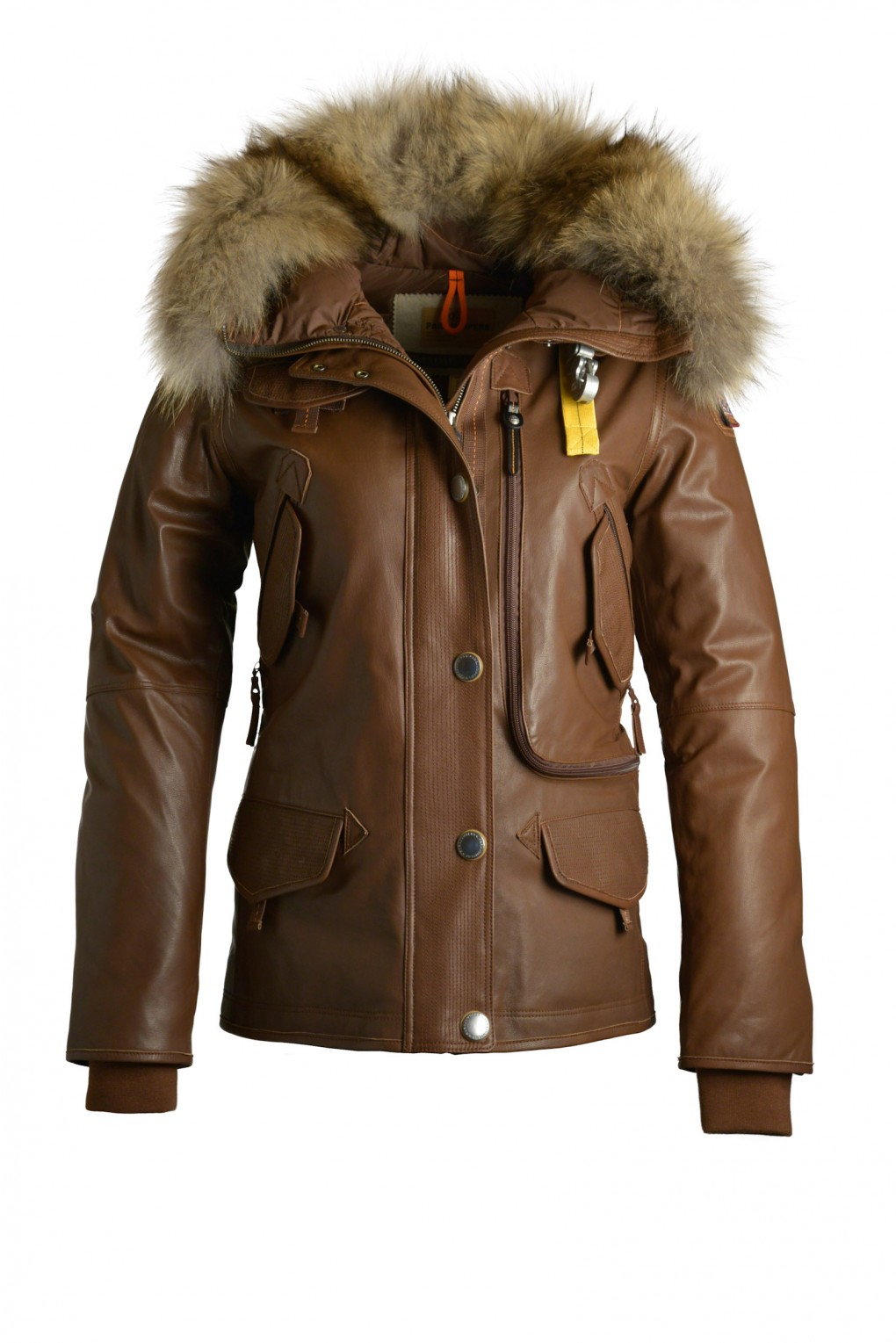 parajumpers DORIS LEATHER woman outerwear Brown