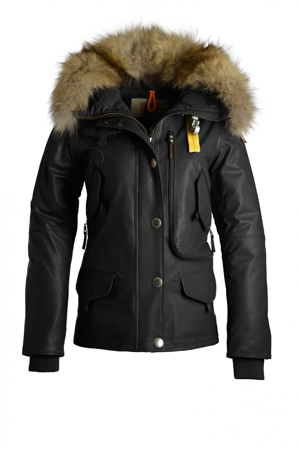 parajumpers DORIS LEATHER woman outerwear Black