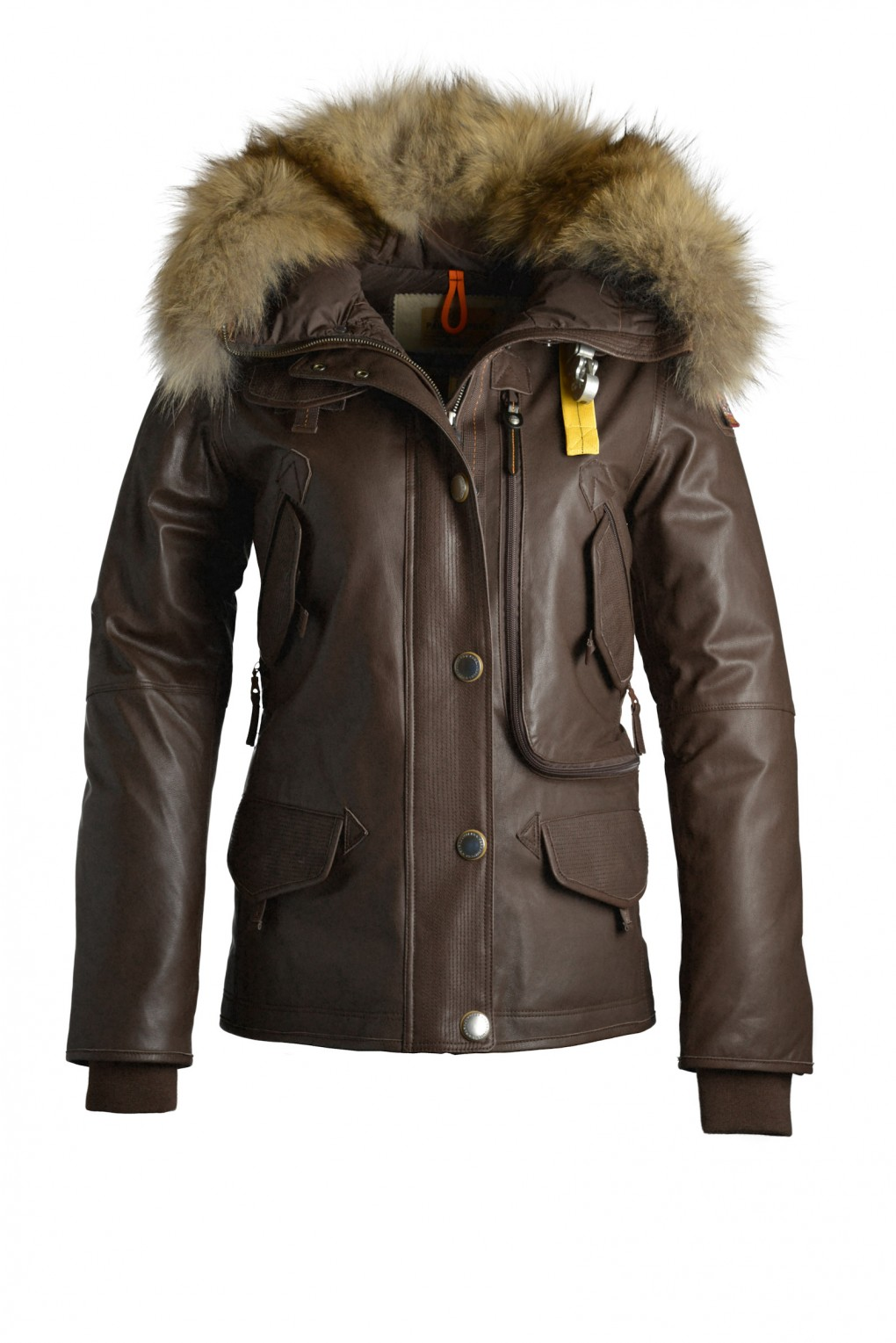 parajumpers DORIS LEATHER woman outerwear Dark Brown