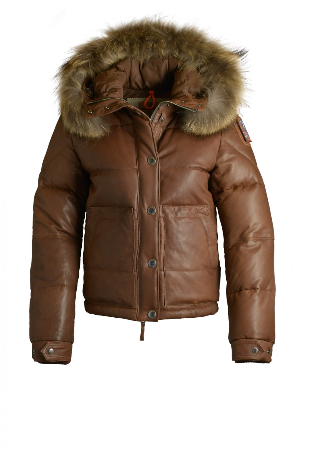 parajumpers LINDA LEATHER woman outerwear Brown