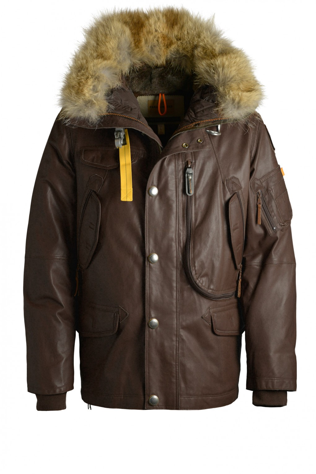 parajumpers RIGHT HAND LEATHER man outerwear Dark Brown