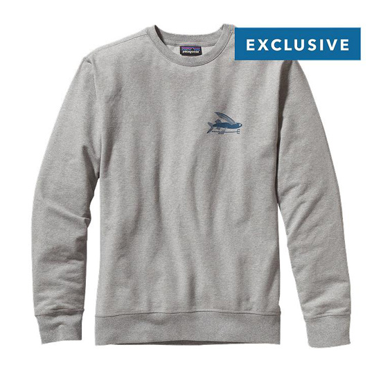 PATAGONIA MEN'S FLYING FISH MIDWEIGHT CREW SWEATSHIRT