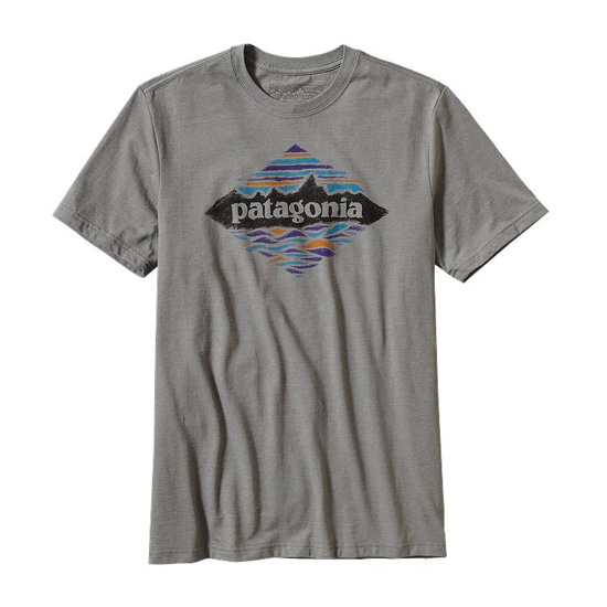 PATAGONIA MEN'S WOOD STAMPLED P-7 COTTON/POLY T-SHIRT