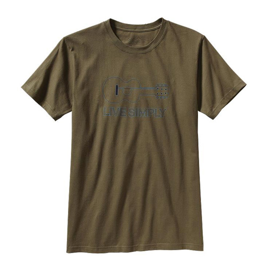 PATAGONIA MEN'S LIVE SIMPLY® GUITAR T-SHIRT