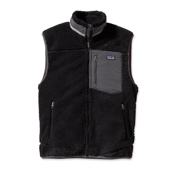Patagonia Men's Classic Retro-X Vest Black w/Forge Grey