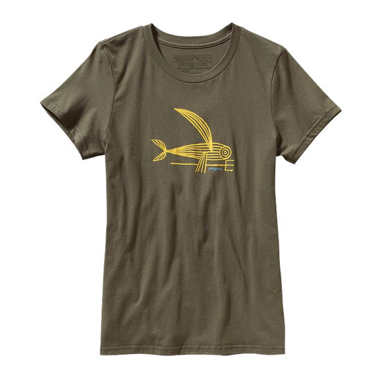 PATAGONIA WOMEN'S DECONSTRUCTED FLYING FISH COTTON T-SHIRT