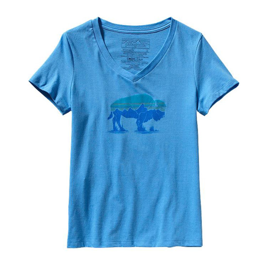 PATAGONIA WOMEN'S FITZ ROY BISON COTTON/POLY T-SHIRT
