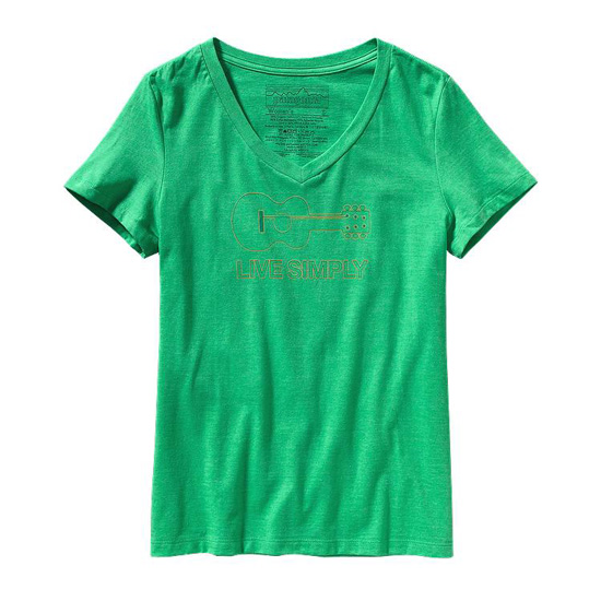 PATAGONIA WOMEN'S LIVE SIMPLY® GUITAR COTTON/POLY T-SHIRT