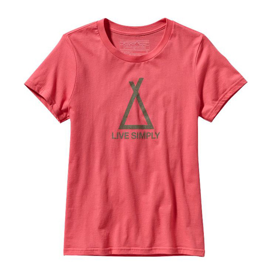 PATAGONIA WOMEN'S TENT LIFE COTTON T-SHIRT