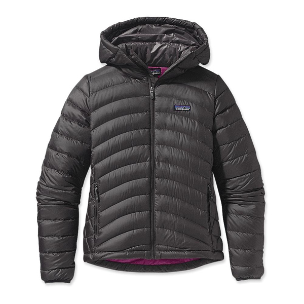 Patagonia Women's Down Sweater Full-Zip Hoody Forge Grey w/Rubellite Pi