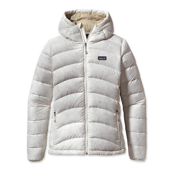 Patagonia Women's Hi-Loft Down Sweater Hoody Birch White