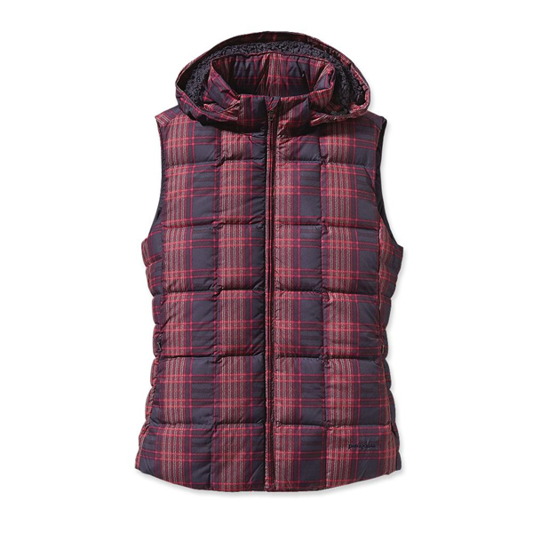 Patagonia Women's Down With It Vest Wooly Plaid: Graphite Nav