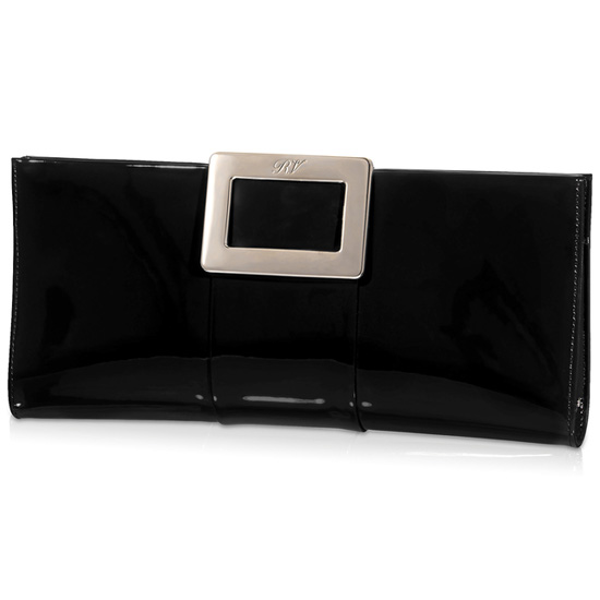ROGER VIVIER BELLE VIVIER CLUTCH BAG IN PATENT LEATHER