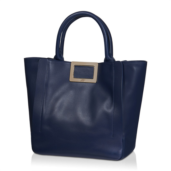 ROGER VIVIER INES SMALL SHOPPING BAG IN LEATHER