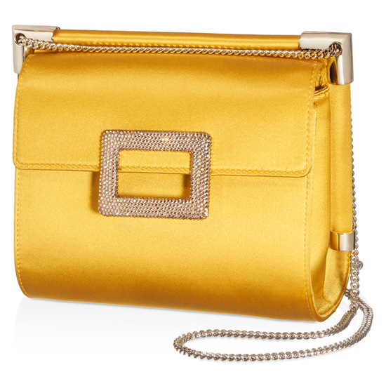 ROGER VIVIER MISS VIV SHOULDER BAG IN SILK SATIN