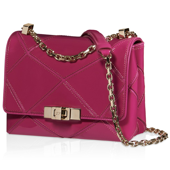 ROGER VIVIER PRISMICK MICRO SHOULDER BAG IN PATENT LEATHER