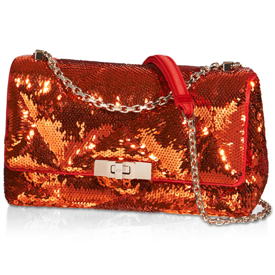 ROGER VIVIER MINI PRISMICK SEQUINED SHOULDER BAG