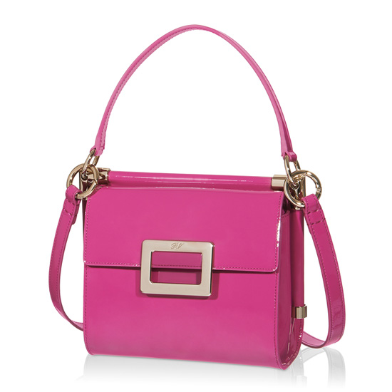 ROGER VIVIER MISS VIV MINI SHOULDER BAG IN PATENT LEATHER