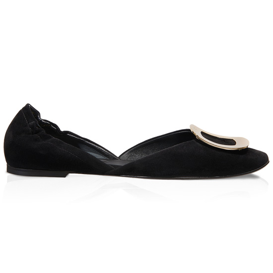 ROGER VIVIER CHIPS BALLERINAS IN SUEDE
