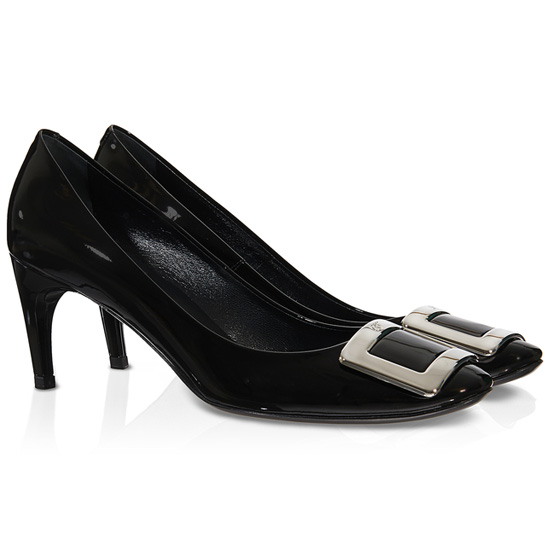 ROGER VIVIER BELLE DE NUIT PUMPS IN PATENT LEATHER