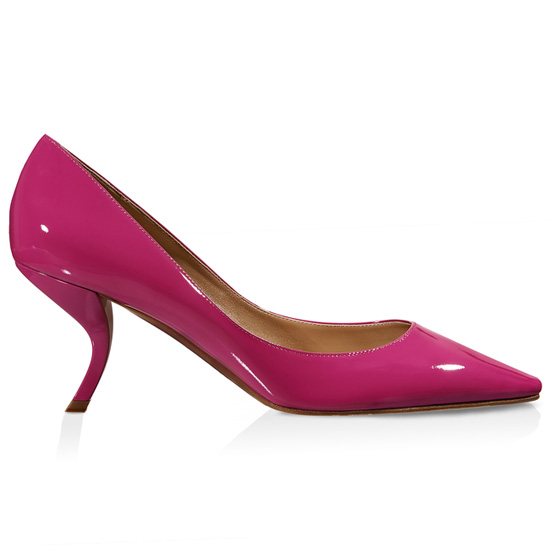ROGER VIVIER VIRGULE PUMP IN PATENT LEATHER