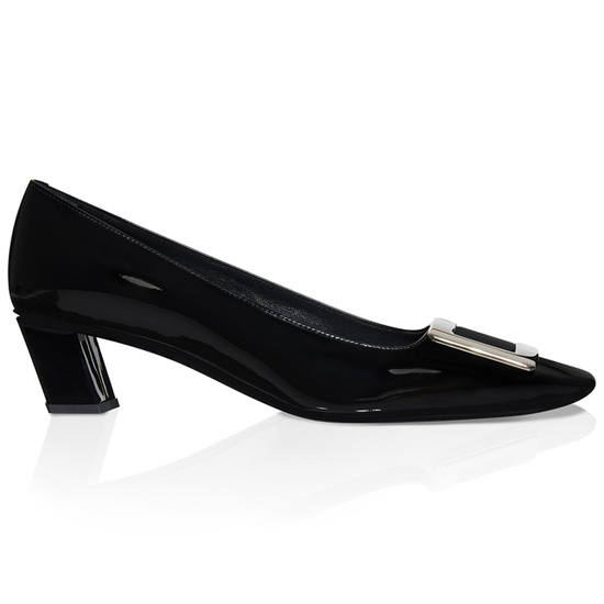 ROGER VIVIER PATENT LEATHER BELLE VIVIER HIGH HEELS