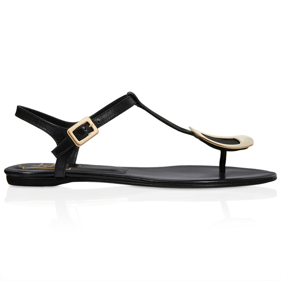 ROGER VIVIER LEATHER CHIPS SANDALS