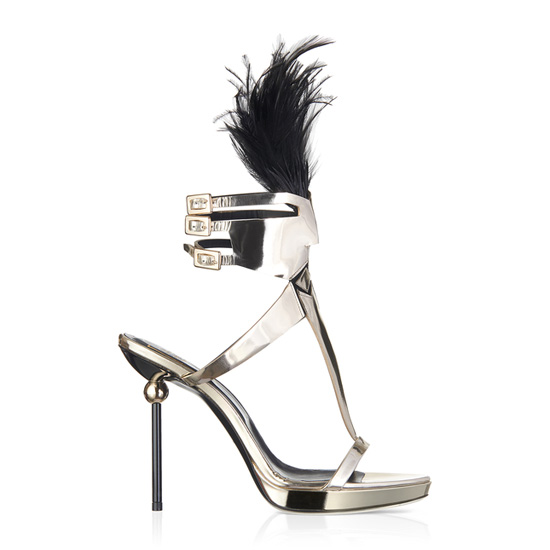 ROGER VIVIER MASK SPHERE SANDAL IN LEATHER