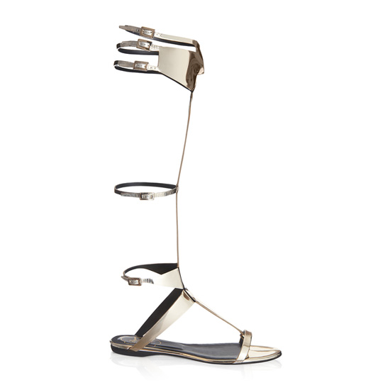 ROGER VIVIER GLADIATOR MASK SANDAL IN LEATHER