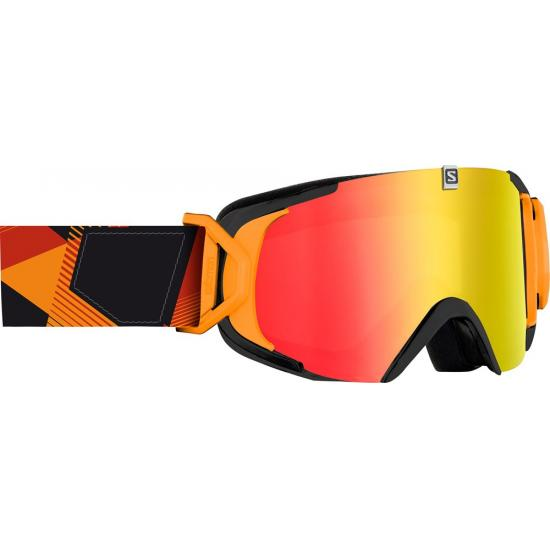 SALOMON XVIEW BLACKOR & RED LENS
