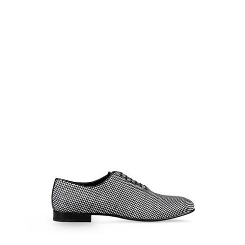 Sergio Rossi ASTAIRE Black Lace-Up Oxfords