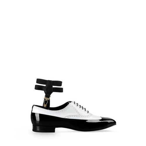 Sergio Rossi GABLE Black Lace-Up Oxfords